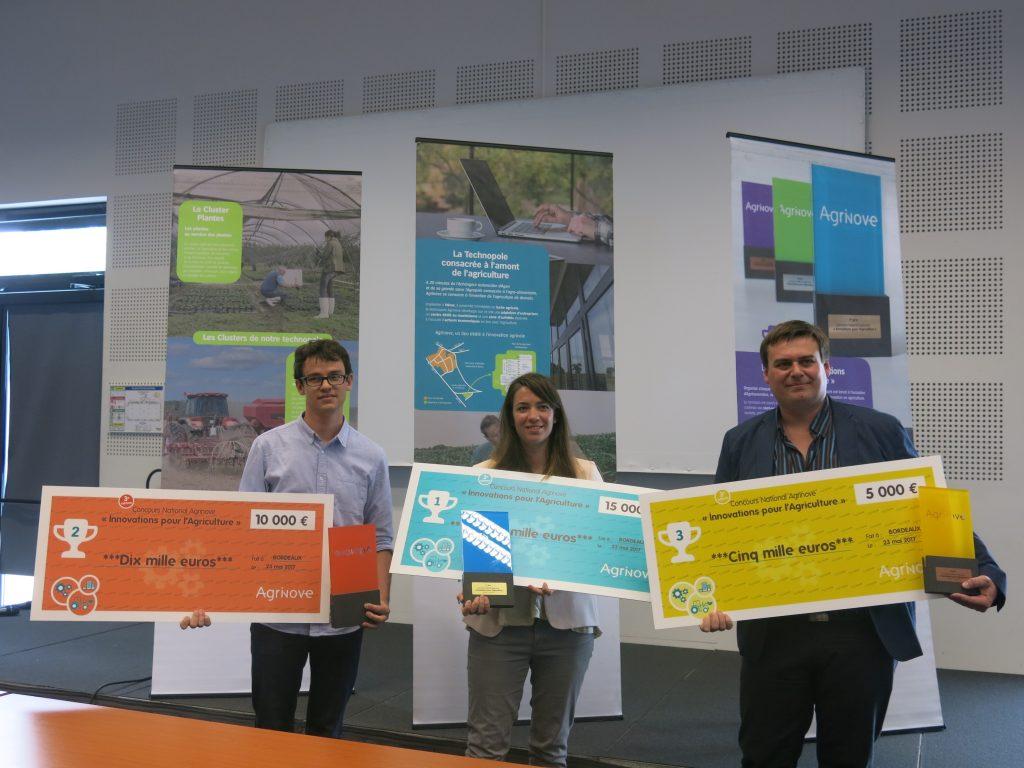 Les trois lauréats primés en mai 2017 (crédit photo : RÉUSSIR)
